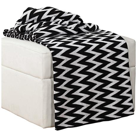 black and white chevron throw blanket. Black Bedroom Furniture Sets. Home Design Ideas