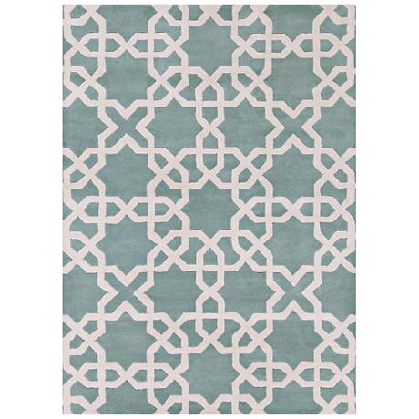 Chandra Davin DAV25800 Mint Wool Area Rug