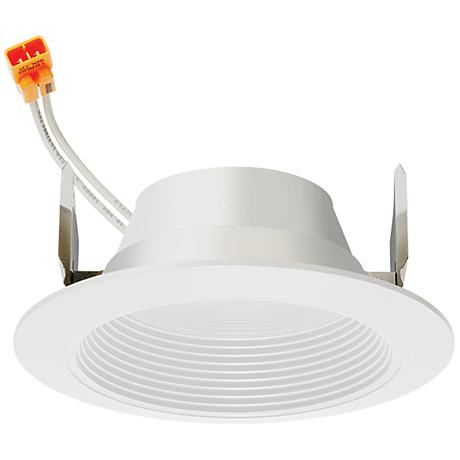 "4"" Juno 11.5 Watt 3000K Recessed LED Retrofit Trim in White"