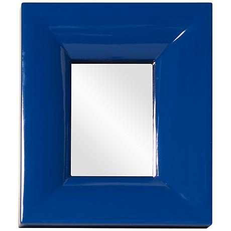 "Howard Elliott Candy Blue 10"" x 12"" Wall Mirror"
