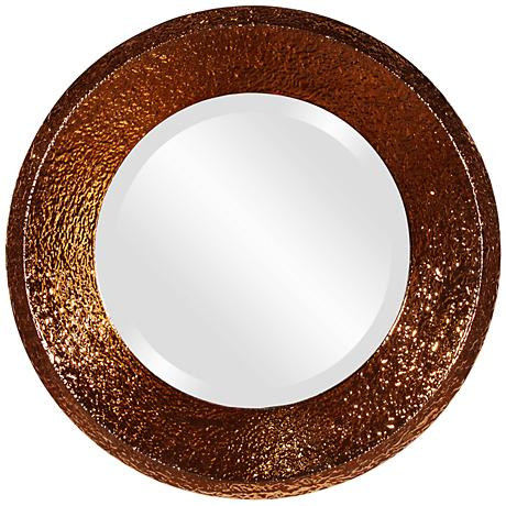 "Howard Elliott Nashville Concave 18"" Round Wall Mirror"