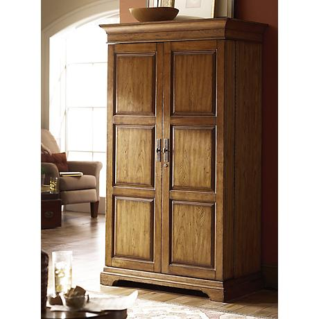 Hammary Hidden Treasures 2-Door Wood Drinks Cabinet