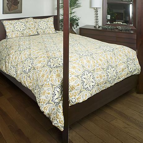 Tradewind Gold and Gray Comforter Set