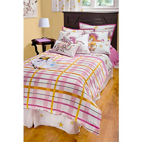 Girls Punk Animal Plaid Comforter Set