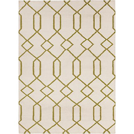 Chandra Lima LIM25714 Beige and Green Area Rug