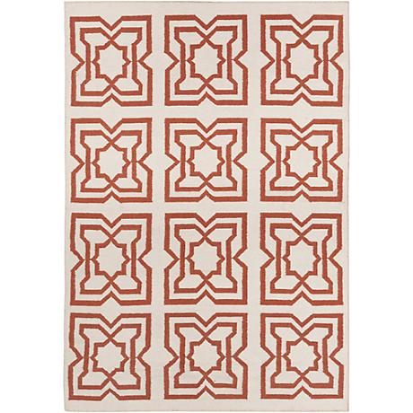 Chandra Lima LIM25719 Beige and Orange Area Rug