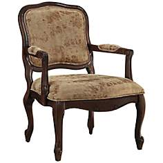 Byron Tan Fabric Bergere Armchair