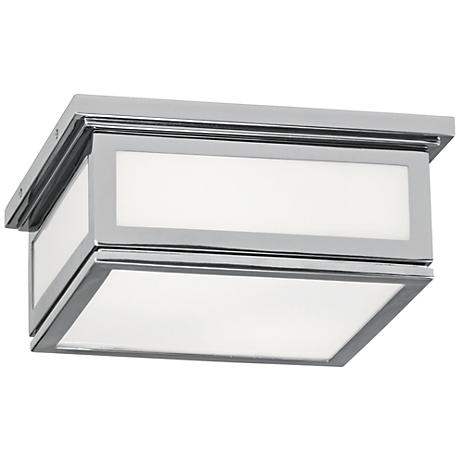 "Bradley 11 1/4"" Wide Polished Chrome Ceiling Light"