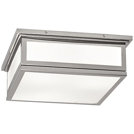 "Bradley 16"" Wide Polished Nickel Ceiling Light"