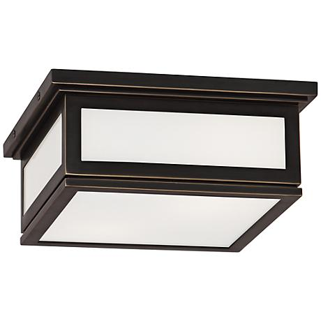 "Bradley 11 1/4"" Wide Deep Patina Bronze Ceiling Light"