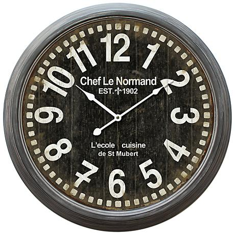 "Chef Le Normand 23 3/4"" Round Wall Clock"