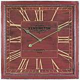 "Bowes Brick Red 15 3/4"" Square Wall Clock"