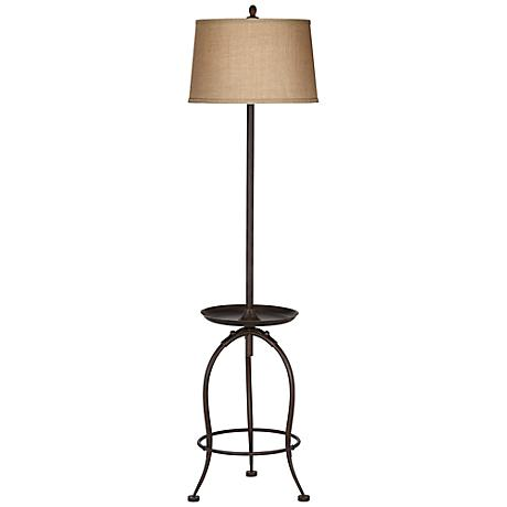 Ellerby Bronze Tray Table Floor Lamp