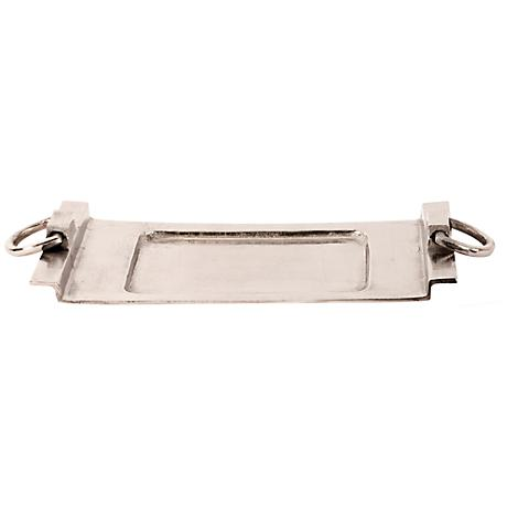 Howard Elliott Large Silver Rectangular Tray with Handles