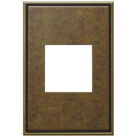 adorne® 1-Gang Cast Metal Aged Brass Wall Plate