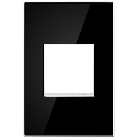 Adorne 1-Gang Black Mirror Wall Plate