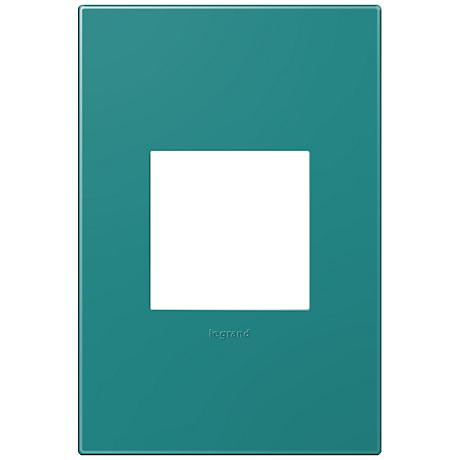 Adorne Snap-On Turquoise Blue 1-Gang Wall Plate