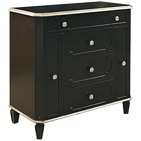 Pulaski Sterling 3-Drawer Black Jewelry Armoire