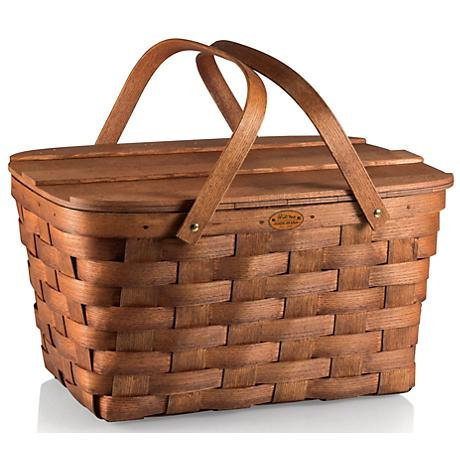 Prairie Natural Wood Picnic Basket