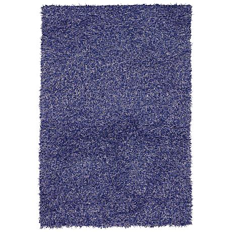 Chandra Zara ZAR14500 Purple Shag Area Rug