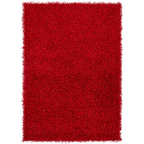 Chandra Zara ZAR14502 Red Shag Area Rug
