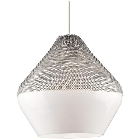 "Tech Lighting Meeka 17 3/4"" Wide Satin Nickel Pendant Light"