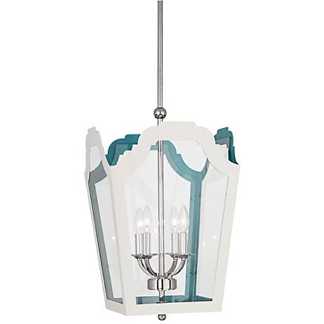"Tayloe 15 1/4"" Wide White Pendant Light"