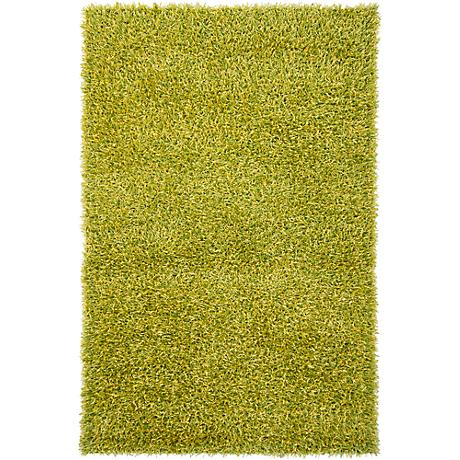 Chandra Zara ZAR14511 Green and Yellow Shag Rug