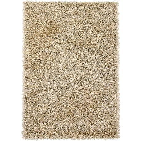 Chandra Zara ZAR14520 Cream Shag Area Rug