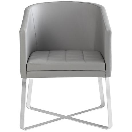 Benson Gray Faux Leather Armchair