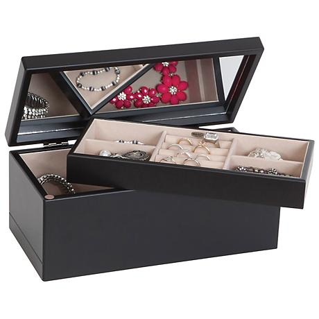 Mele & Co. Venezia Mirror Top Wooden Jewelry Box