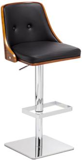Braiden Black Faux Leather Adjustable Barstool (6P818) 6P818