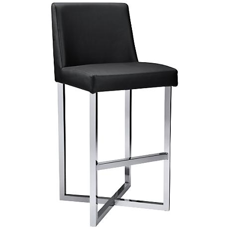 "Howard Black 29 1/2"" Faux Leather Barstool"