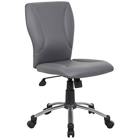 Tiffany Gray Caress Plus Adjustable Office Chair
