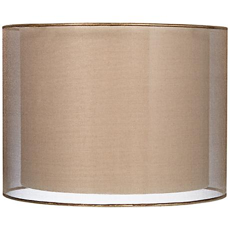Sheer Bronze Double Lamp Shade 12x12x9 Spider 6r952