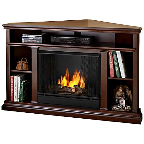 Real Flame Churchill Dark Espresso Corner Gel Fireplace
