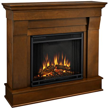 Real Flame Chateau Espresso Mantel Electric Fireplace