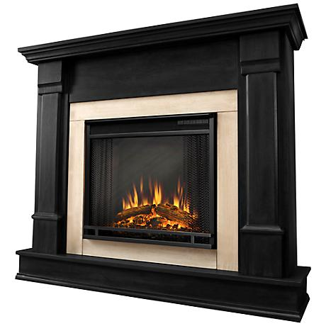 Real Flame Silverton Black Mantel Electric Fireplace