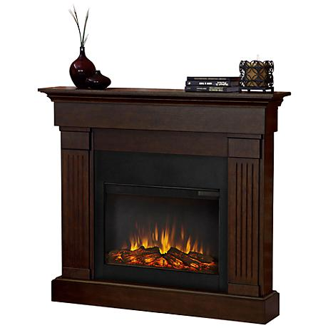 Real Flame Crawford Slim Chestnut Oak Electric Fireplace