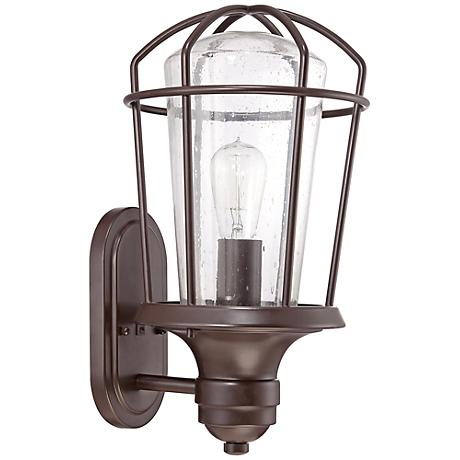 "Quoizel Marine 17 1/2"" High Bronze Outdoor Wall Light"