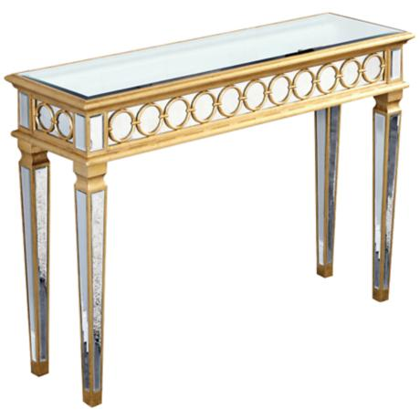 Gold Mirrored Console Table Images