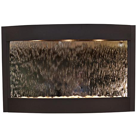 Calming Waters Mirrored Textured Black Wall Fountain