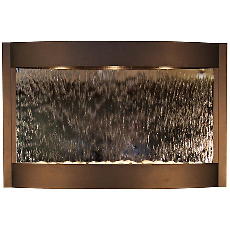 Calming Waters Mirrored Antique Bronze Wall Fountain