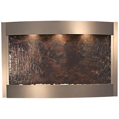 Calming Waters Featherstone Silver Metallic Wall Fountain