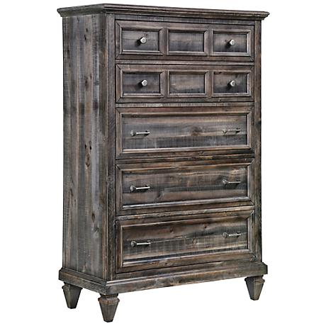 Calistoga Charcoal 5-Drawer Chest