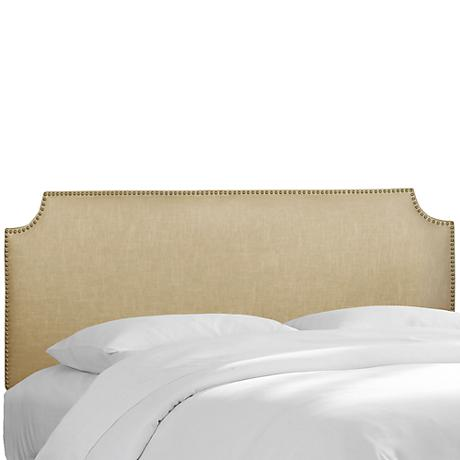 Madison Linen Sandstone Queen Headboard