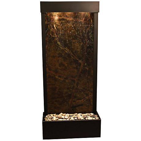 Harmony River Black Copper Indoor Green Marble Fountain