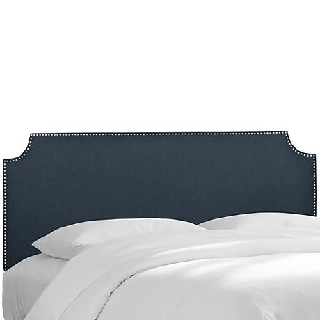 Madison Linen Navy Queen Headboard