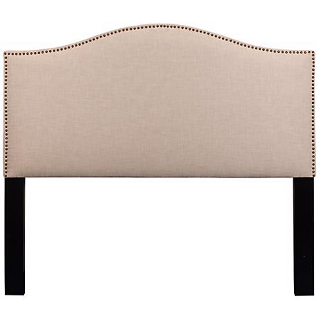 Meryl Heirloom Natural Upholstered Queen Headboard