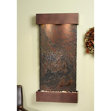 Whispering Creek Slate Copper Vein Wall Fountain